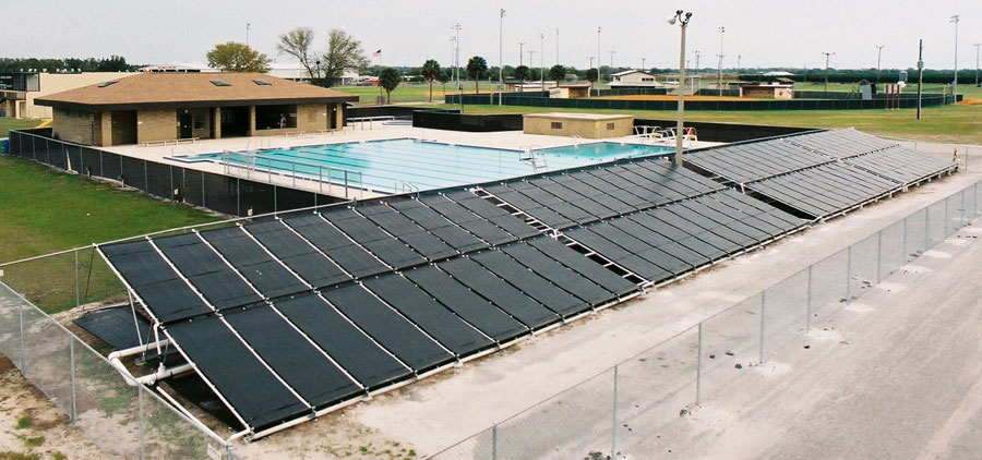Pool pro solar solar pool heater installation photographs - Solar powered swimming pool heater ...