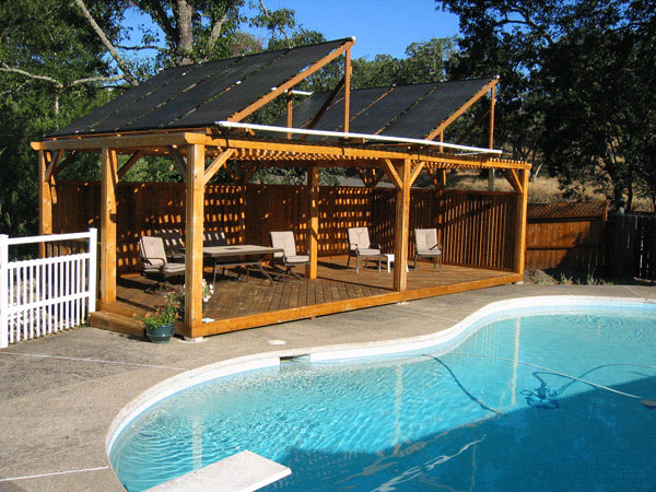 Pool pro solar solar pool heater installation photographs - Swimming pool solar heating system ...
